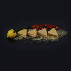 San jacobo de jamón york y queso
